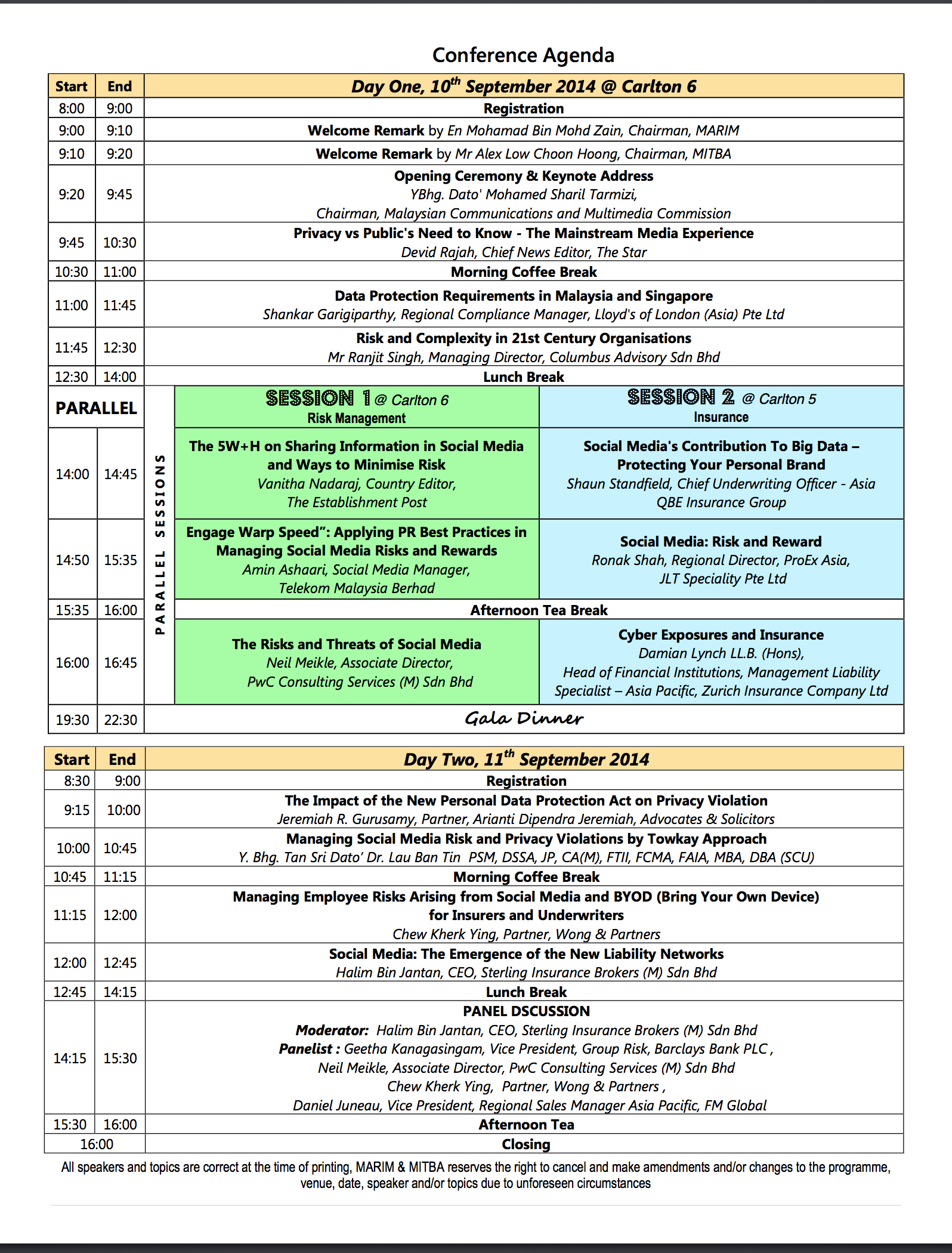 Conf2014-Programme