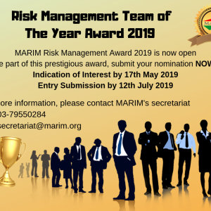 MARIM Risk Management Team of The Year Award 2019